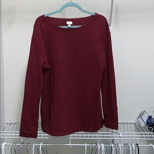 Maroon ribbed sweater